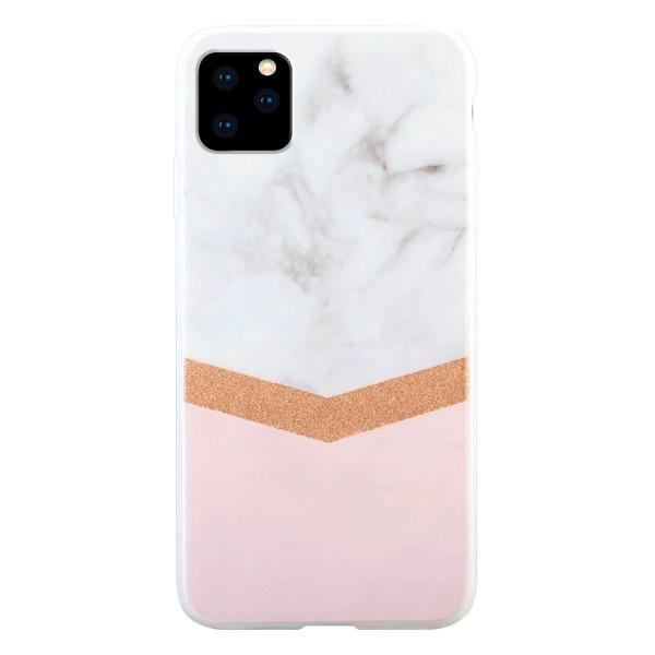 HABITU iPhone 11 Pro WHITE MARBLE SIERRA ROSE GOLD GLITTER