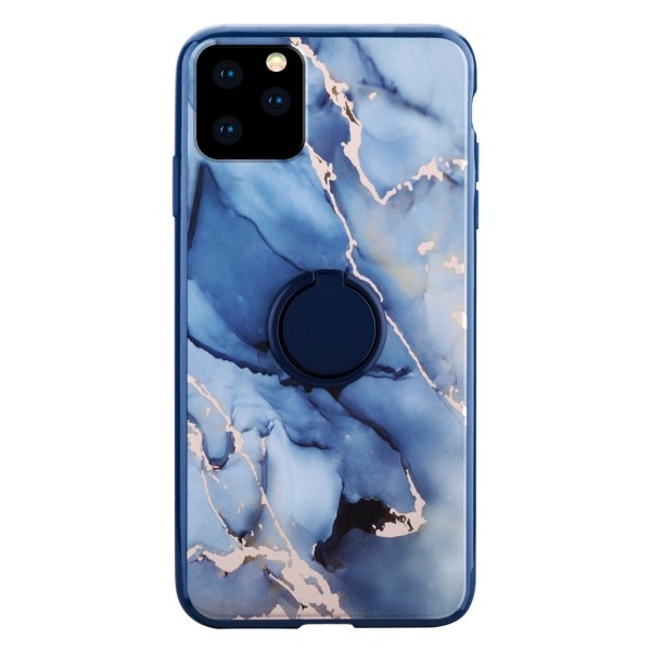 HABITU iPhone 11 Pro RING MARBLES ROSA BLUE