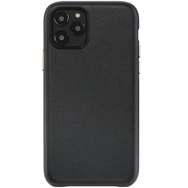 HABITU iPhone 11 Pro Macaron VEGAN LEATHER BLACK VELVET