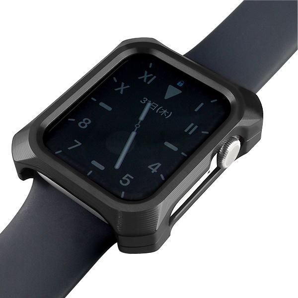 GILD design Apple Watch 44mm Series 4 / 5 / 6 / SE ジュラルミン削り出し ソリッドバンパー ブラック