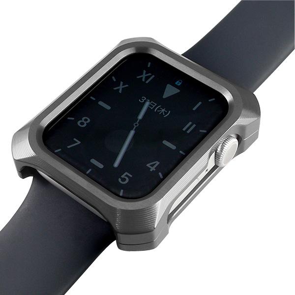GILD design Apple Watch 44mm Series 4 / 5 / 6 / SE ジュラルミン削り出し ソリッドバンパー グレー
