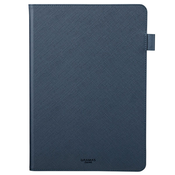 "GRAMAS iPad 7th COLORS ""EURO Passione"" 手帳型 PUレザーケース ネイビー"