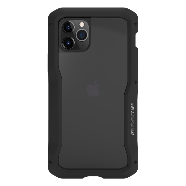 Element Case iPhone 11 Pro Max Vapor-S 耐衝撃 アルミバンパーケース 背面保護ガラス 付属 グラファイト