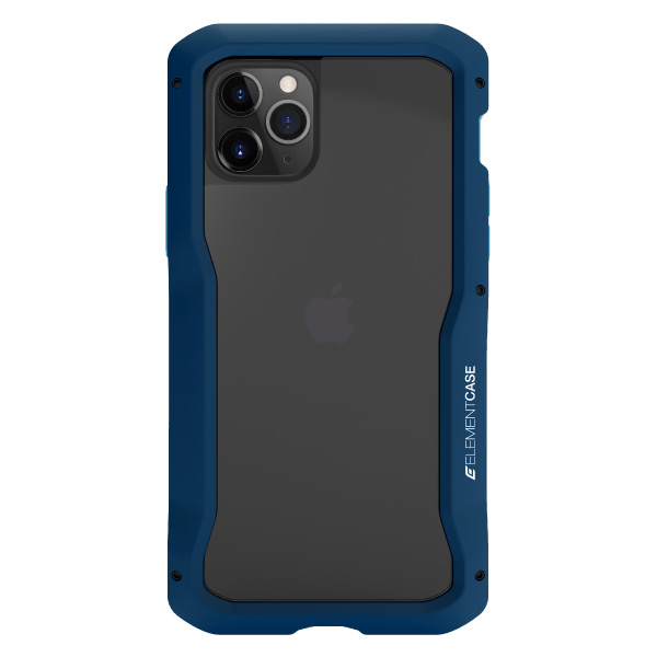 Element Case iPhone 11 Pro Max Vapor-S 耐衝撃 アルミバンパーケース 背面保護ガラス 付属 ブルー