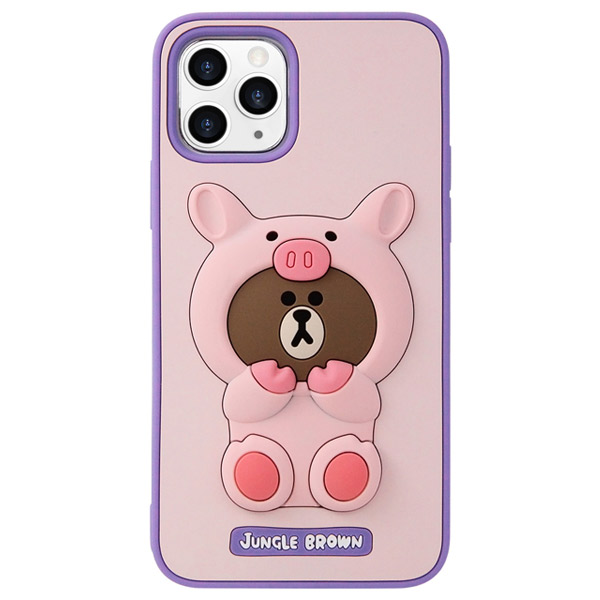 LINE FRIENDS iPhone 11 Pro LINE FRIENDS SILICON ピギーブラウン