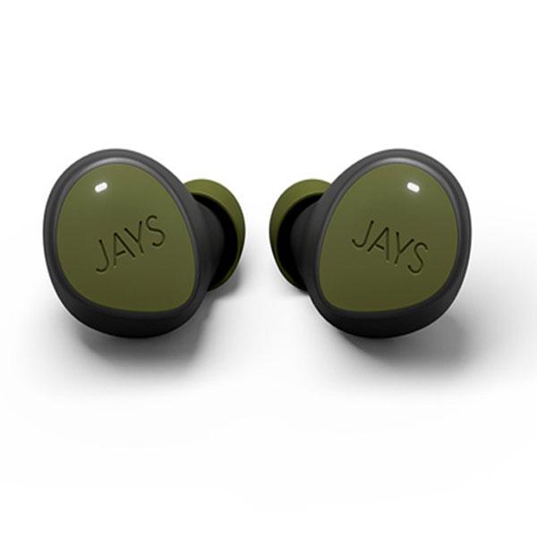 JAYS m-Seven Bluetooth 5.0 完全ワイヤレス イヤホン IPX5 防水 グリーン