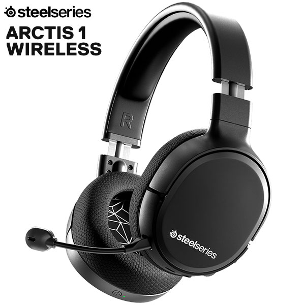 SteelSeries Arctis 1 Wireless 4-in-1 有線 / 2.4GHz ワイヤレス 両対応 ゲーミングヘッドセット Black