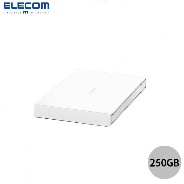 エレコム 250GB USB3.2 Gen1 外付けSSD ポータブル ホワイト
