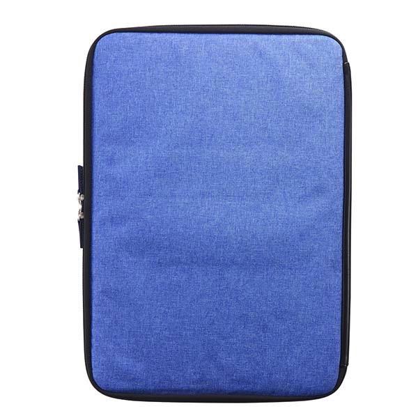 Simplism MacBook Pro 16インチ / 15インチ [BookZip] ジッパー式 軽量クッションケース メランジブルー