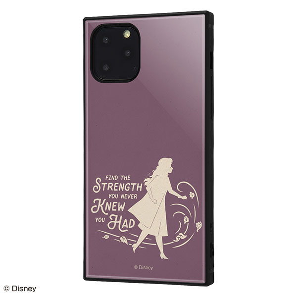ingrem iPhone 11 Pro ディズニーキャラクター 耐衝撃ケース KAKU トリプルハイブリッド アナと雪の女王2 シルエット アナ