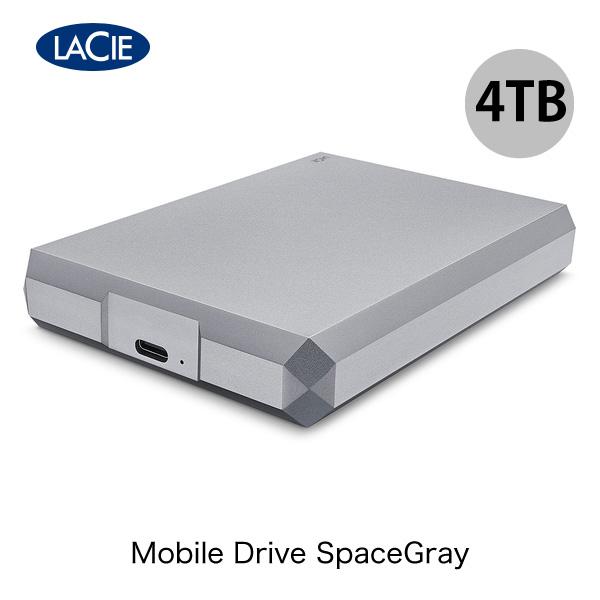Lacie 4TB Mobile Drive USB3.1 USB-C対応 ポータブル ハードディスク スペースグレイ