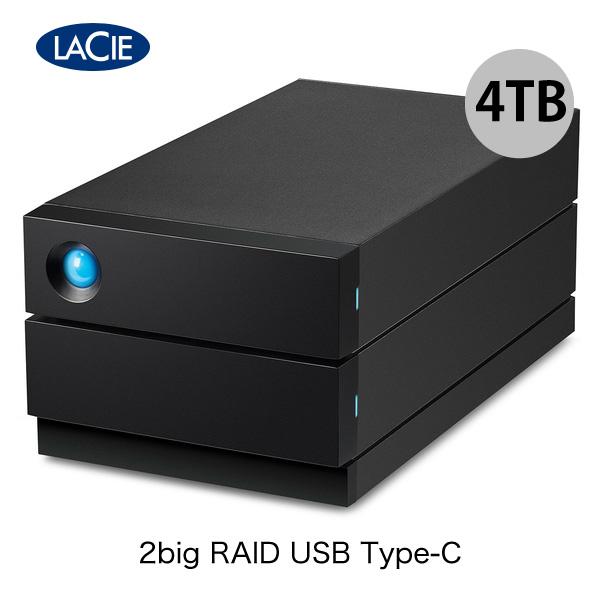 Lacie 4TB 2big RAID USB Type-C USB 3.2 Gen2 (USB 3.1) 対応 外付け HDD