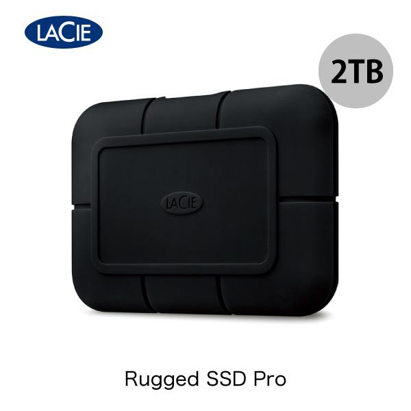 Lacie 2TB Rugged SSD Pro Thunderbolt 3 USB 3.1 (Gen 2) Type-C 対応 耐衝撃 外付けSSD (ポータブル)