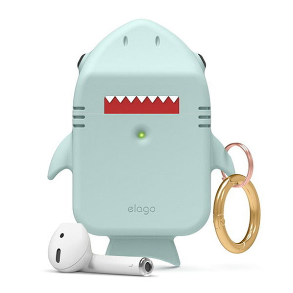 elago AirPods SHARK CASE シリコンケース Mint