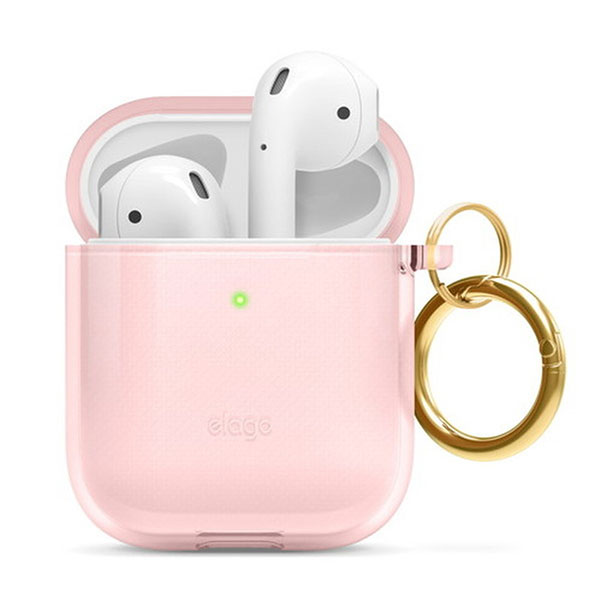 elago AirPods CLEAR CASE TPU クリアケース Lovely Pink