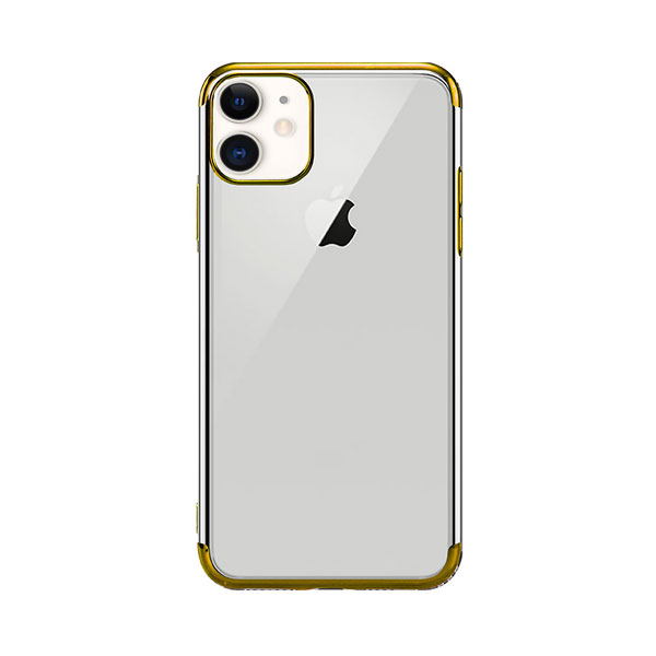 X-Fitted iPhone 11 Plated Shine ソフトクリアケース Golden