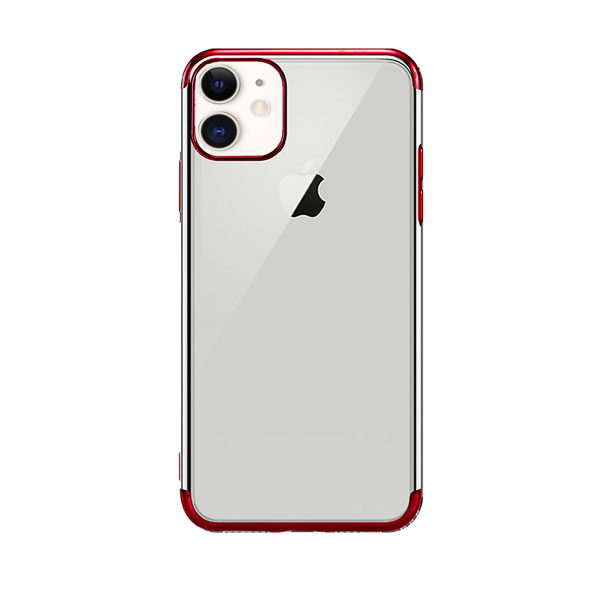 X-Fitted iPhone 11 Plated Shine ソフトクリアケース Red