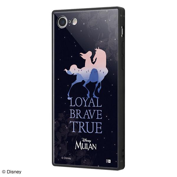 ingrem iPhone SE 第2世代 / 8 / 7 ディズニーキャラクター ムーラン 耐衝撃ケース KAKU トリプルハイブリッド シルエット