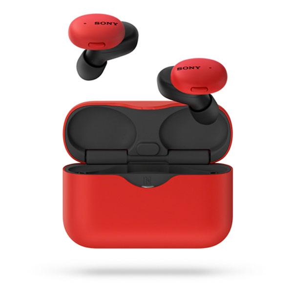 SONY WF-H800 完全ワイヤレス ステレオヘッドセット Bluetooth 5.0 レッド