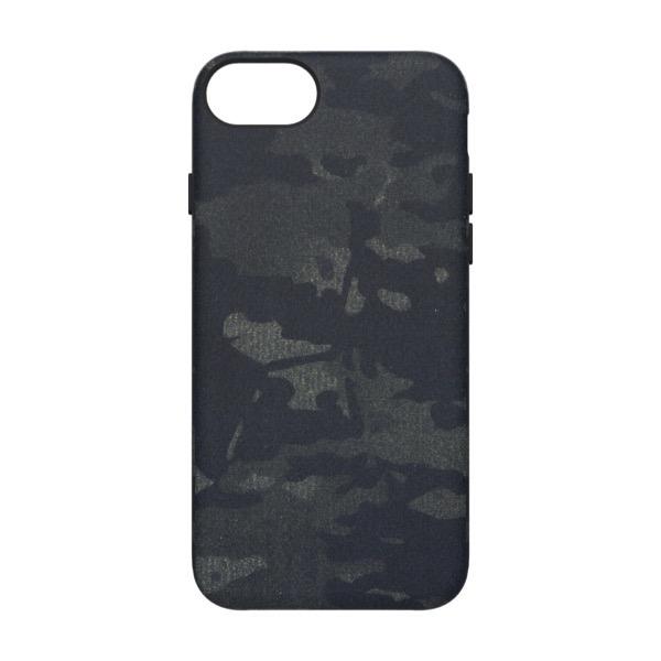 Simplism iPhone SE 第2世代 / 8 / 7 / 6s / 6 [NUNO] バックケース ブラックカモフラージュ