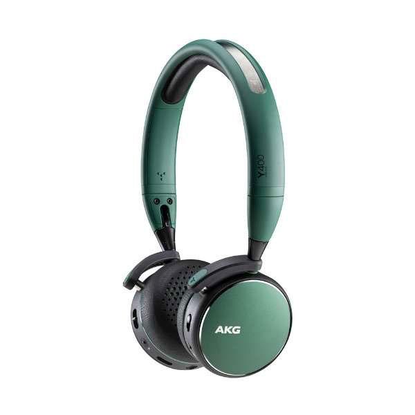 AKG Y400 ワイヤレス 有線 両対応 Bluetooth 5.0 オンイヤー ヘッドホン グリーン