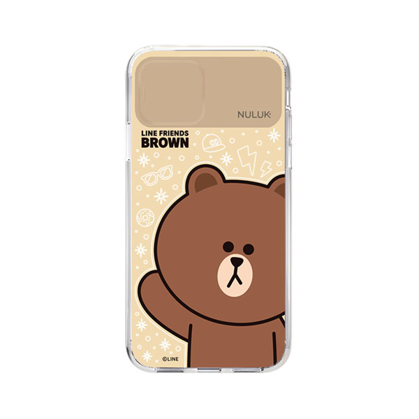 LINE FRIENDS iPhone 11 Pro LIGHT UP CASE BASIC ブラウン