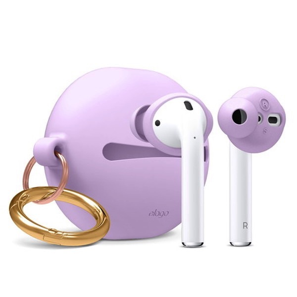 elago Airpods EAR BUDS COVER BASIC & POUCH Lavender