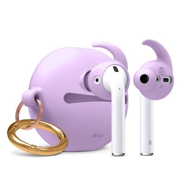 elago Airpods EAR BUDS COVER HOOK & POUCH Lavender