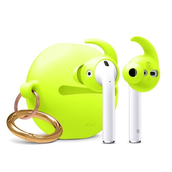 elago Airpods EAR BUDS COVER HOOK & POUCH Neon Yellow