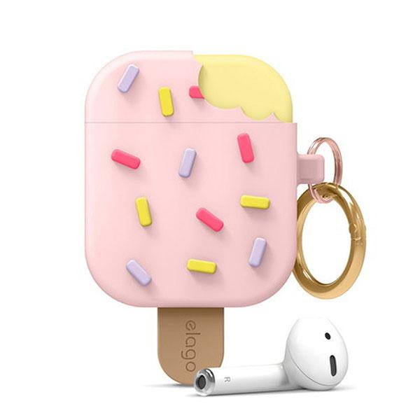 elago AirPods ICE CREAM シリコンケース Lovely Pink