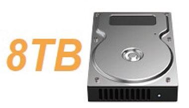 各スロットにつき最大で8TBのHDDを搭載可能