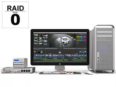 大容量・高速なストレージシステム RAID0 対応