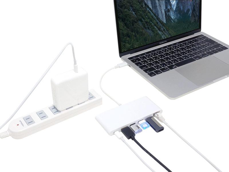 充電しながら使える USB PowerDelivery 2.0 機能搭載